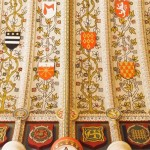 The ornate Sidney Chapel ceiling